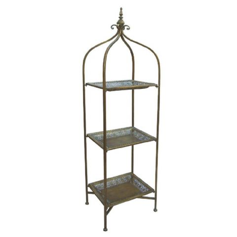 Folding Gold & Copper Moroccan Tray Shelves